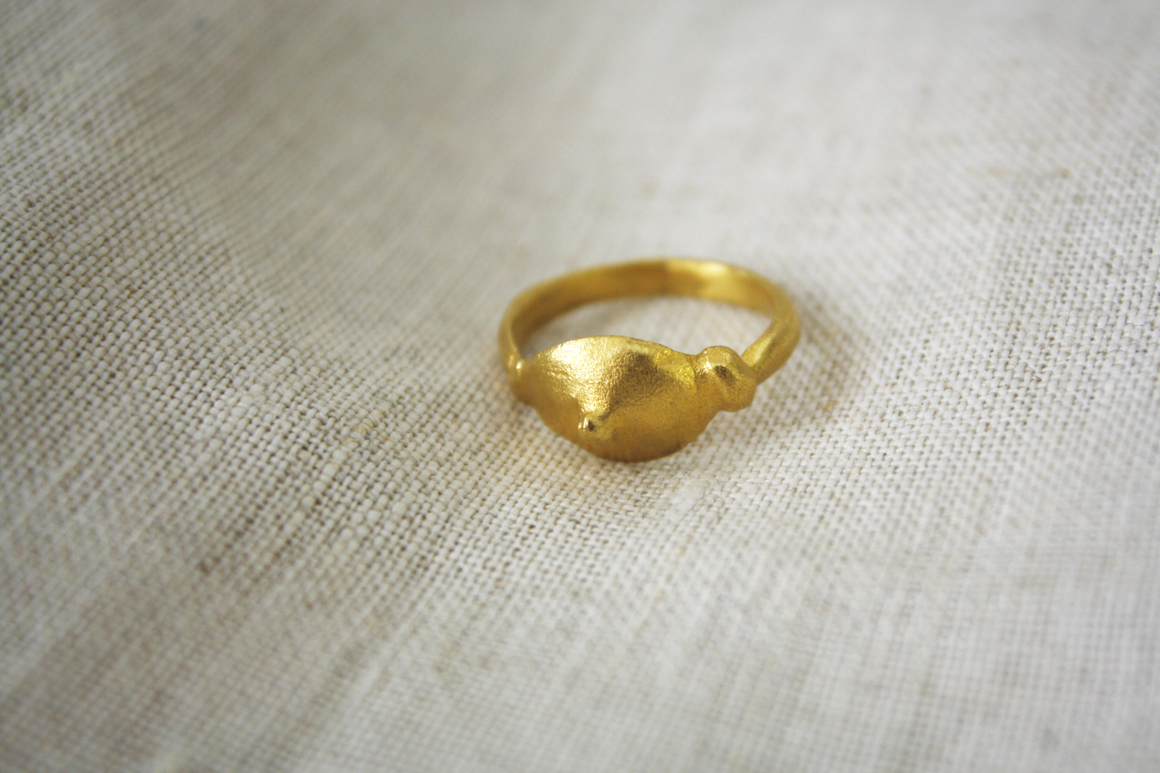 טבעת קול התופים זהב