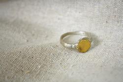 טבעת המרפא בעשבים כסף וזהב 22 קראט