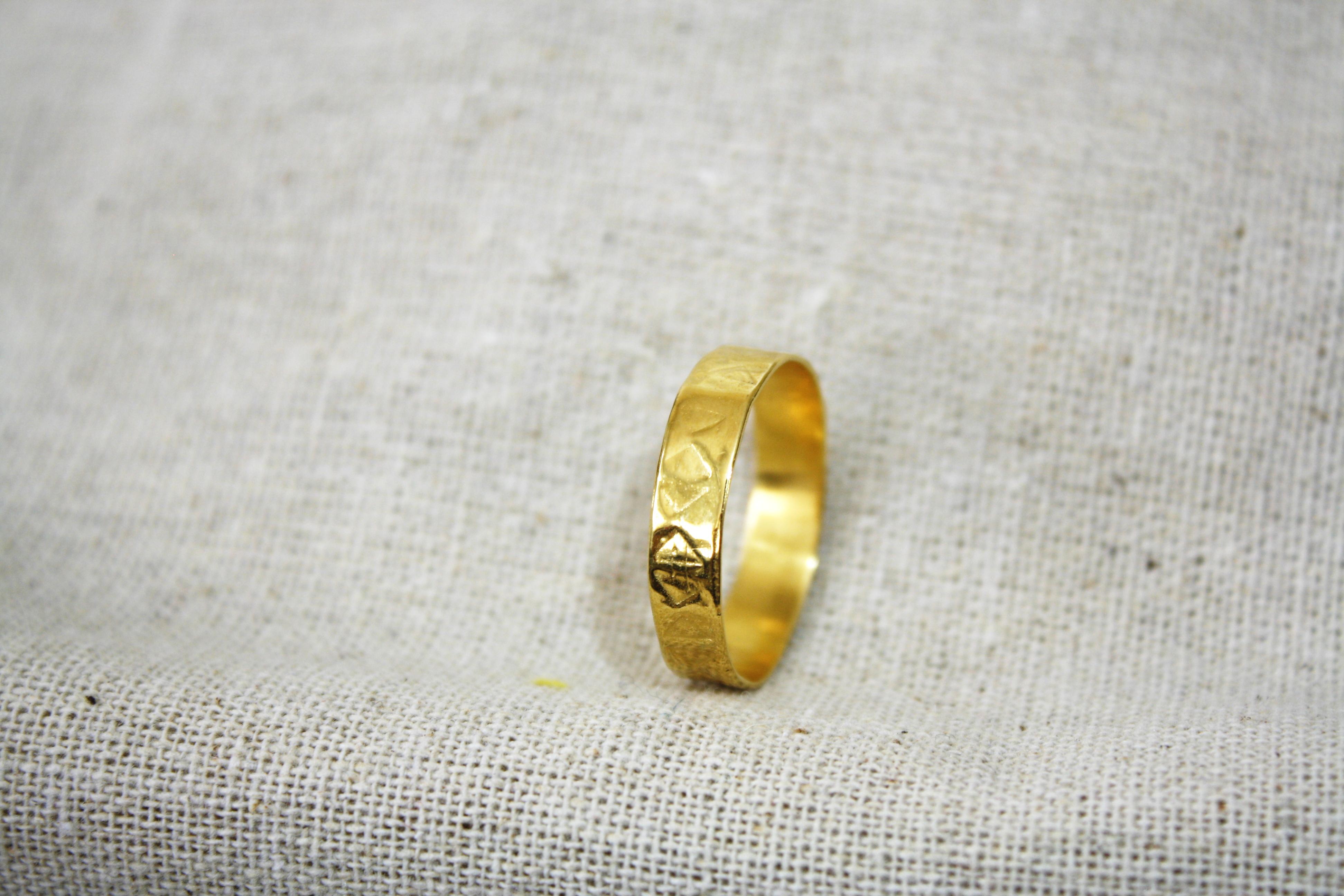 טבעת יורדי ים זהב