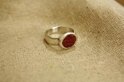 טבעת כסף משובצת קורל טבעי, הזמנה איש