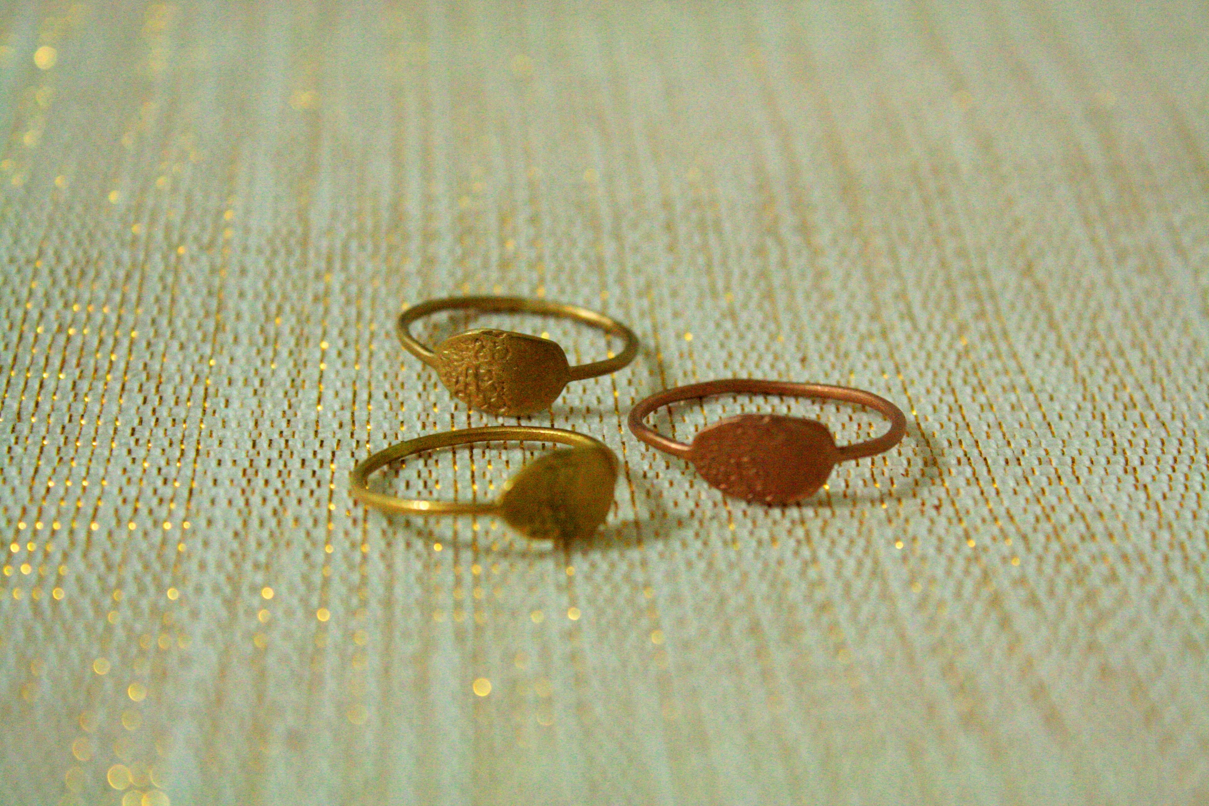 טבעות מדגם העדינות ביותר, זהב