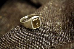טבעת עבודת קודש, כסף וזהב