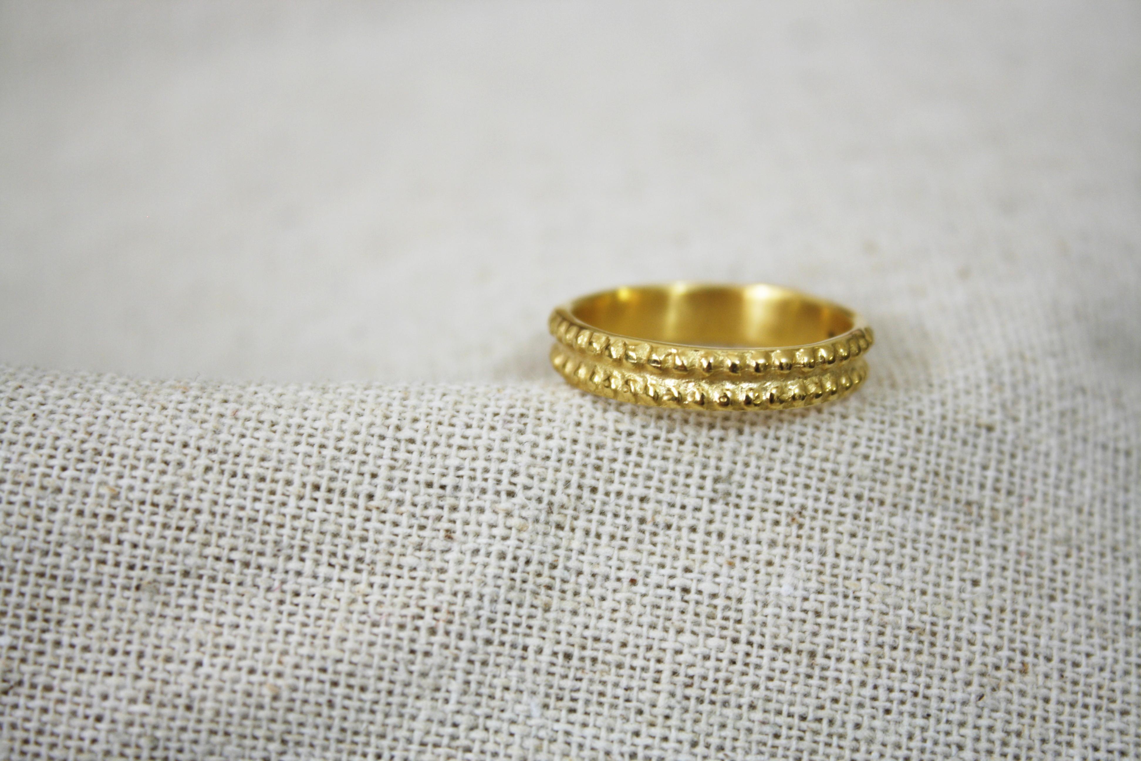 טבעת שבע ברכות זהב