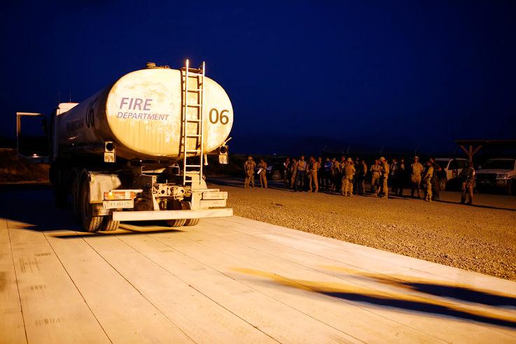 2008 Arrivée des F-16 belges en Afghanistan