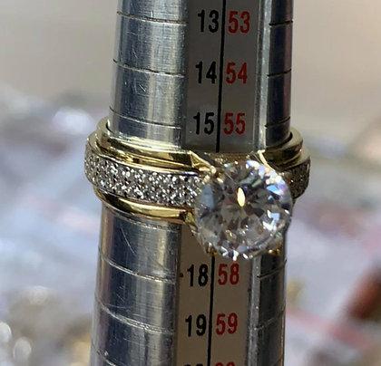 Златен годежен пръстен