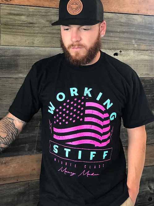 "The ""Flag"" Tee in Black"