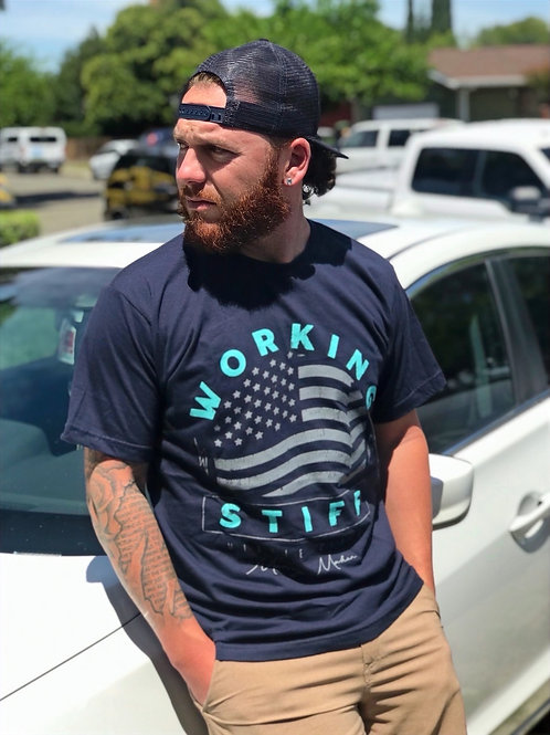 "The ""Flag"" Tee in Navy"