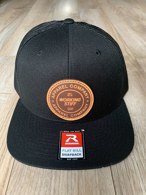 Trucker Leather Circle Patch