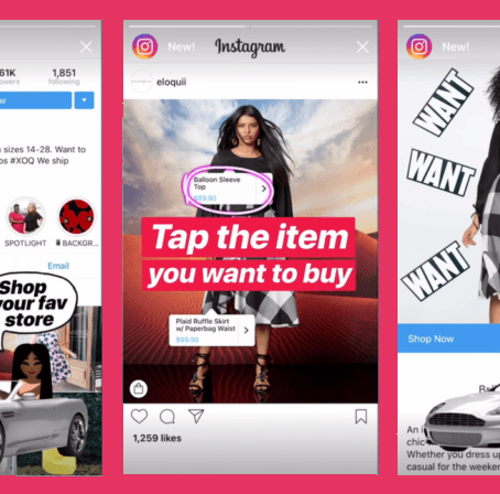 Shopping Stickers per le storie su Instagram e Shopping Channel