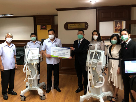 Navamin 9 Hospital & MDE Delivered Ventilators to Ministry of Public Health, Thailand