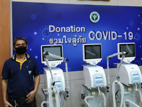 4 Private Corporations & MDE Delivered Ventilators to Ministry of Public Health, Thailand
