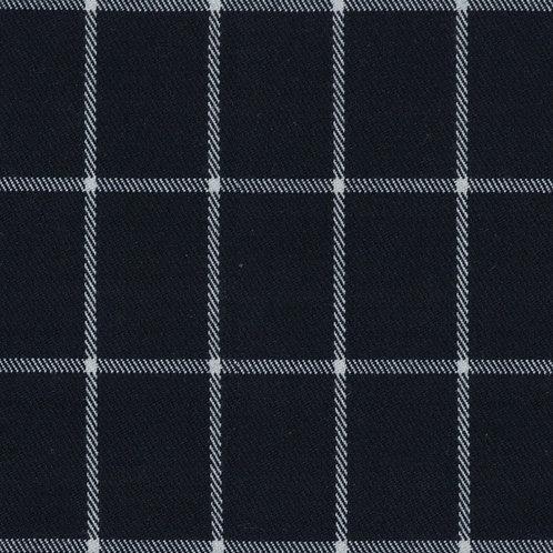 2458 - Navy Blue with White Checks