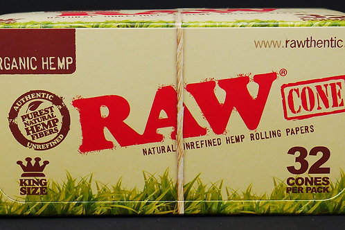 Raw Organic Cones King Size 32pk