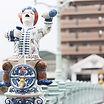 伊万里の延命橋の陶器人形