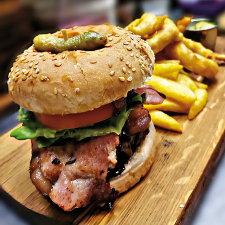 Burgers! Served with side fries and onio