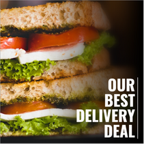 Delivery sandwich template for social media