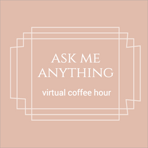 Ask me anything pink social template