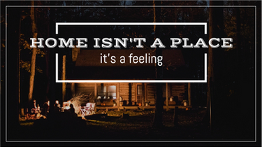 Home isn't a place it's a feeling social post
