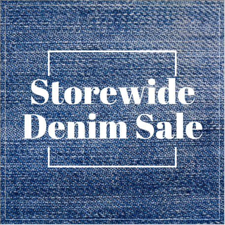 Denim sale retail social post template