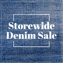 Denim sale retail social post template