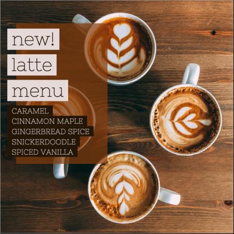Coffee menu social post template