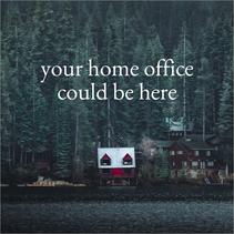 Cabin in winter social post template