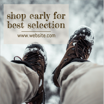 Shop early winter social post template