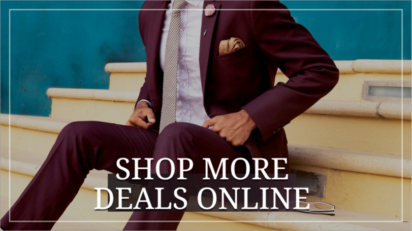 Shop more menswear social post template