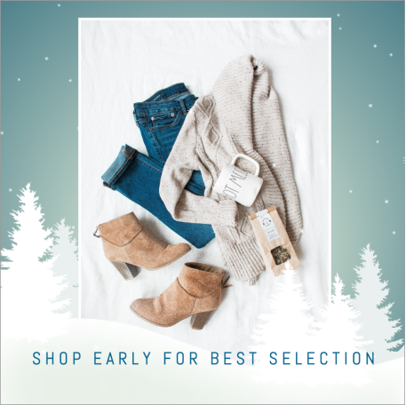 Shop early winter social media template