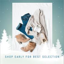 Shop early winter social media template