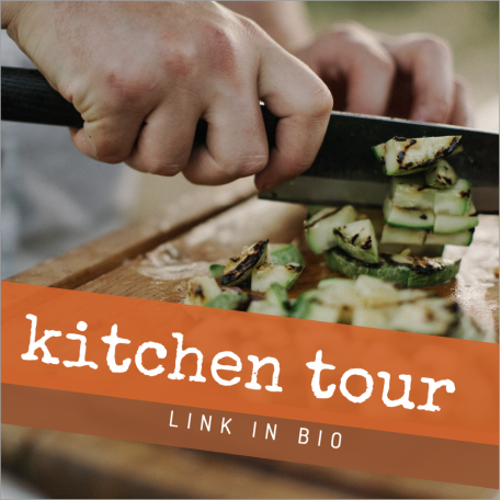 Kitchen tour social media post template