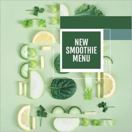 Green smoothie social media post template