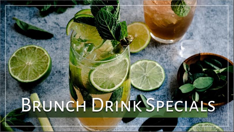 Brunch drink specials social post