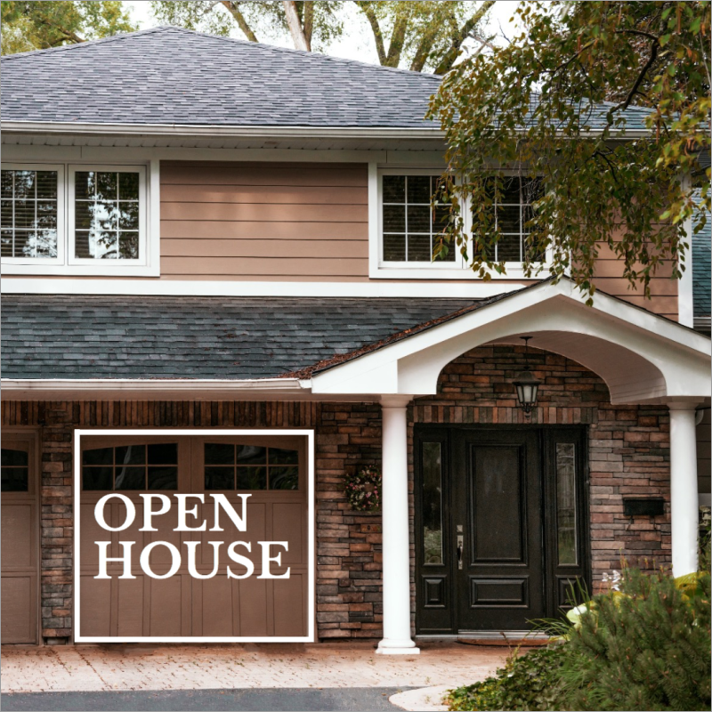 Open house real estate template