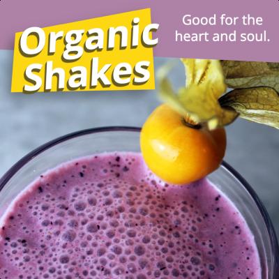 organic shakes ad example