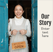 Our story social post