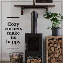 Cozy wood burning fire post