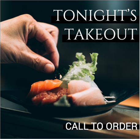 Takeout sushi social media post