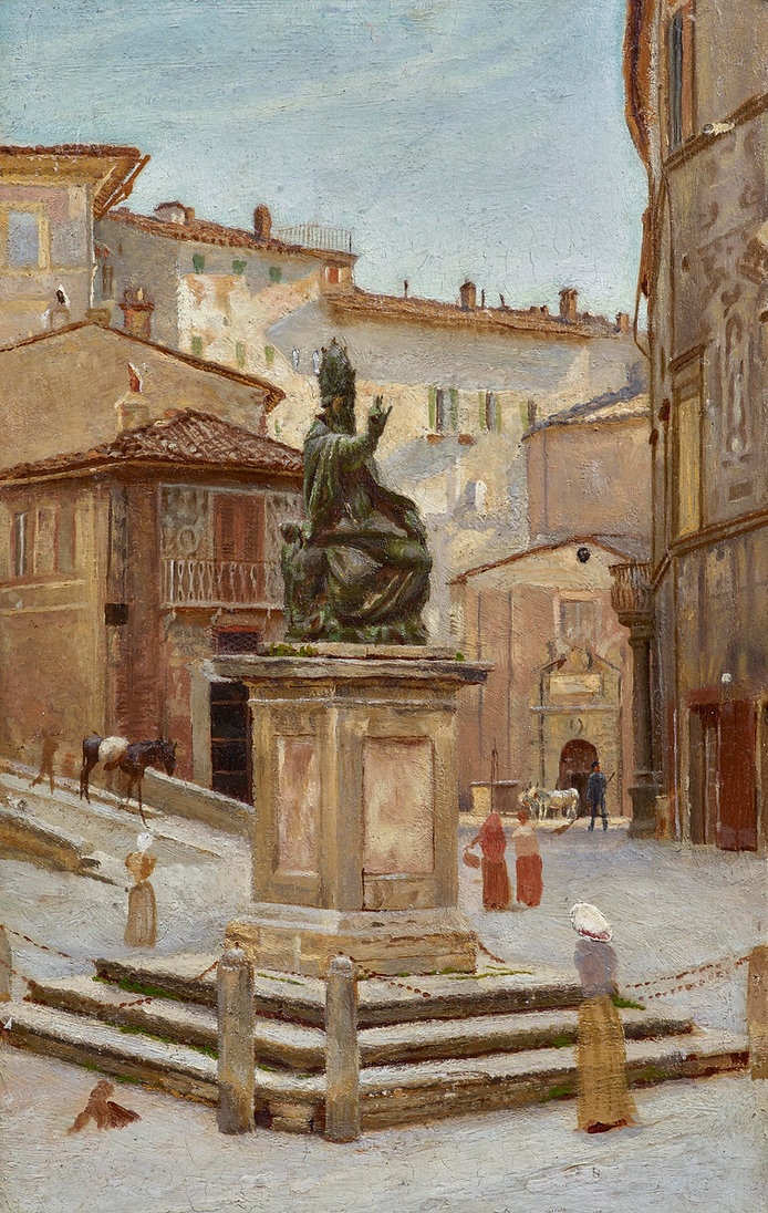 Cockerell 'Statue in Perugia'.jpg