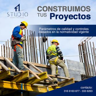 Realiza la construcción de tus proyectos como debe ser, con parámetros de calidad y control basados en la normativa vigente.