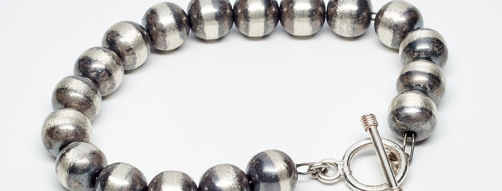 8MM Oxidized Beaded Bracelet