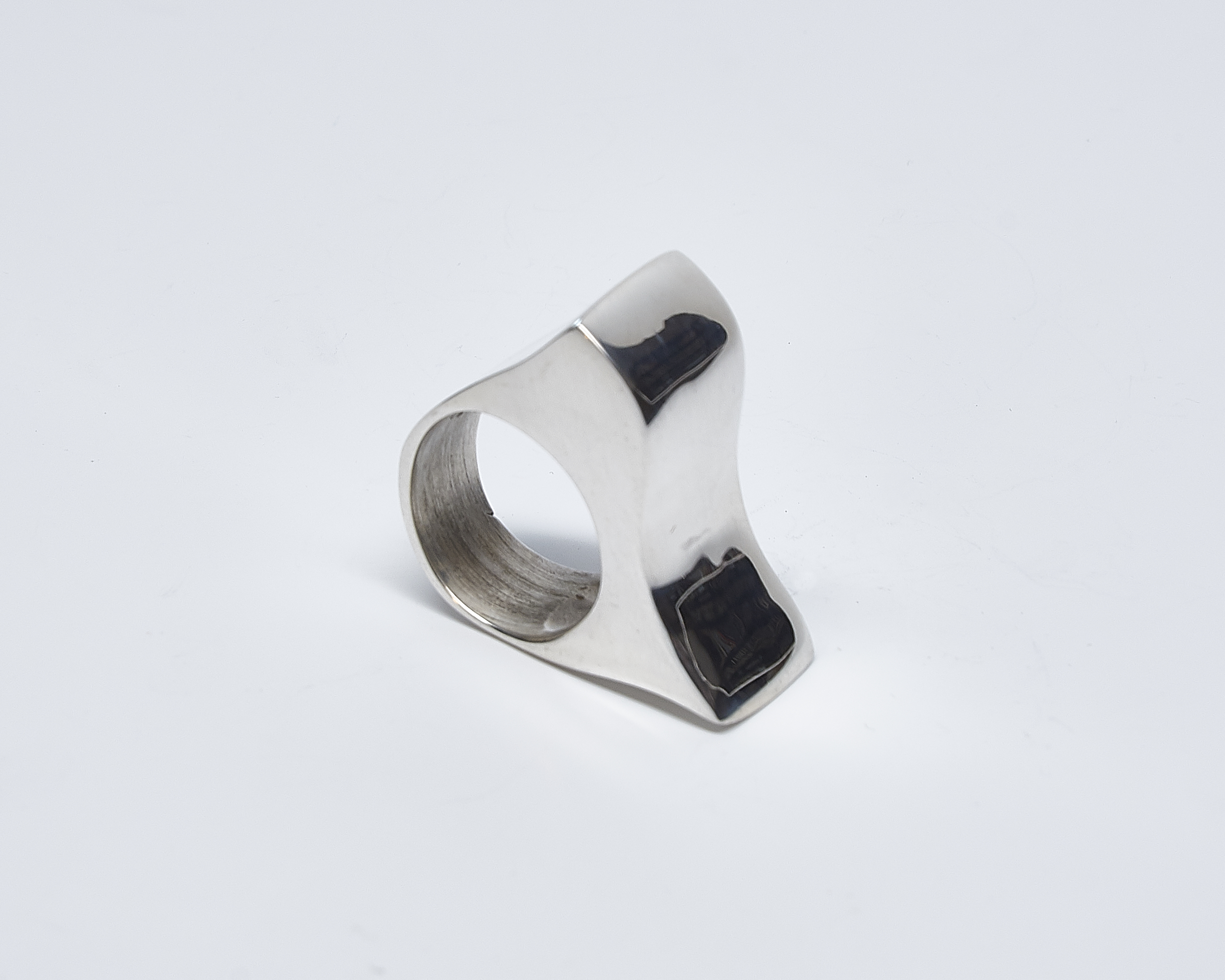 Wax Cast Wide Curved Ring