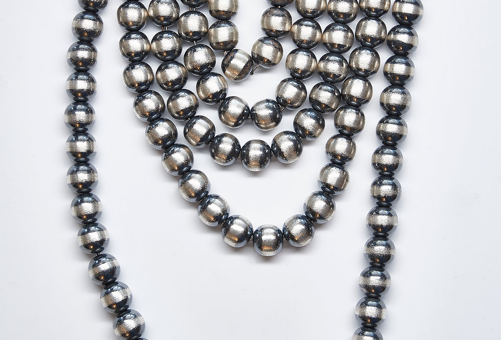 8MM Oxidized Beaded Necklaces