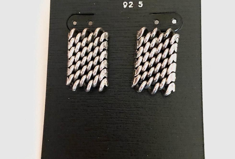 Snake Link Post Earrings