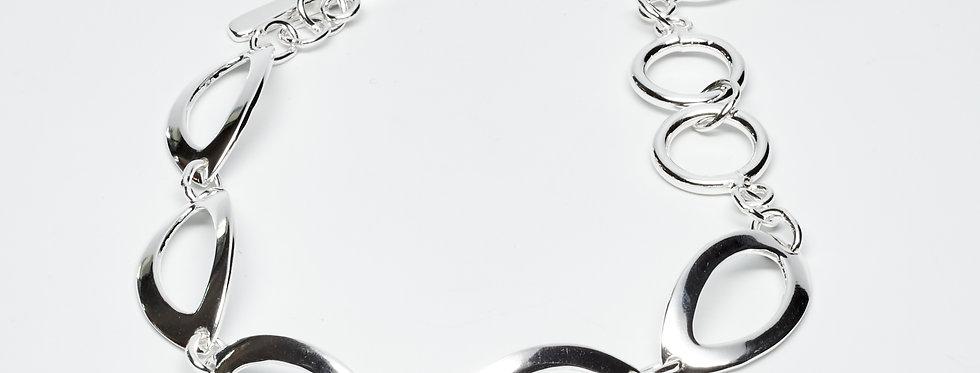 Seed-Shaped Sterling Silver Bracelet