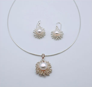 Snowflake Pearls and Sterling Silver