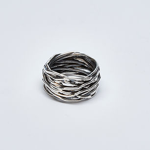 Oxidized Nest Ring