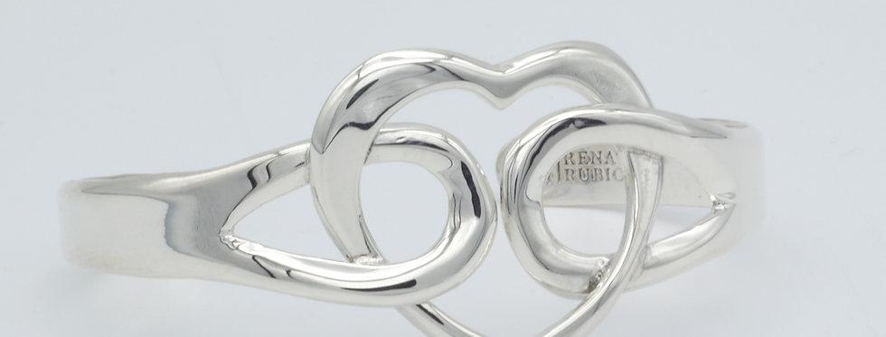 Looped Heart Cuff