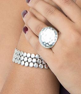 Sterling Silver Flat Circle Bracelet