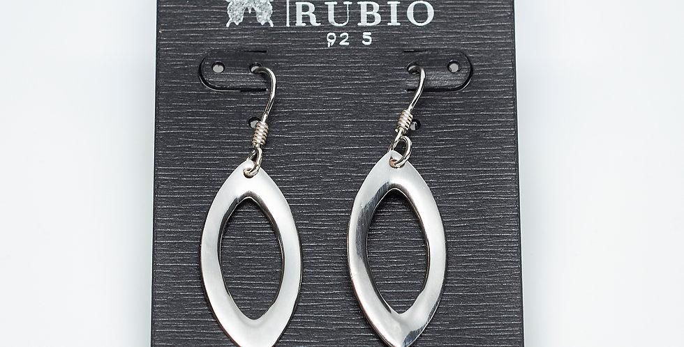 Seed-Shaped Dangle Sterling Silver Earrings